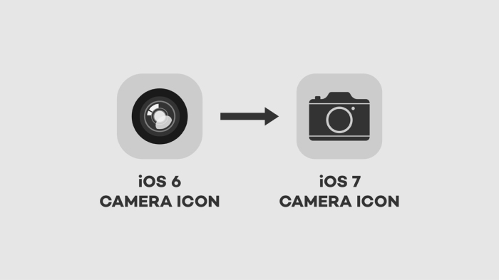 iOS 6 & 7 Camera Icon