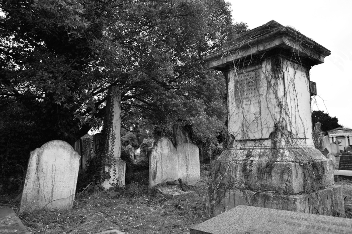 Gravestones Black and White